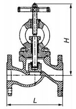 15кч022нж Клапан запорный проходной.
